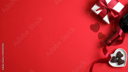 Fotomural Valentines day greeting cart template