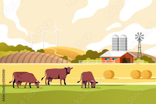 Agriculture industry, farming and animal husbandry concept Canvas