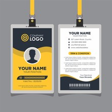 Professional Yellow Wave Modern Id Card Design Template Vector Image