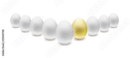 金の卵 Fototapet