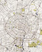 Map Of The City Of Chengdu, China
