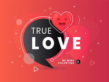 True Love Label. Trendy Flat V...