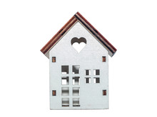 Wooden Model Of House Isolated...