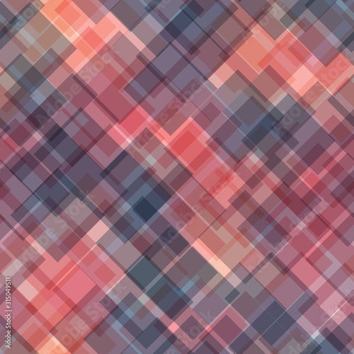 Obraz Seamless abstract geometric pattern of overlapping squares in random order. Simple flat vector illustration - fototapety do salonu