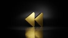 Gold Metal Symbol Of Backward ...