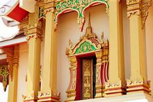 Travelling Laos, Temple Gold Decoration