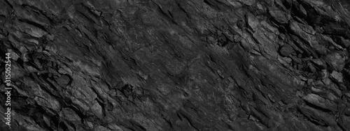 Fototapeta Black grunge background. Abstract stone background. Beautiful mountain texture pattern. Stone grunge banner. Dark gray rock backdrop. obraz na płótnie