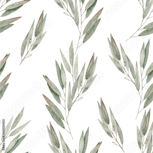 Valokuvatapetti Watercolor seamless pattern