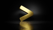 Gold Metal Symbol Of Greater T...