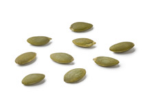 Raw Pumpkin Seeds Isolated On ...