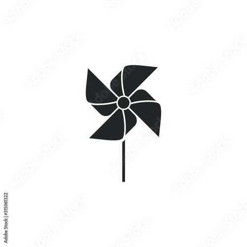 Valokuvatapetti pinwheel Windmill toytemplate color editable