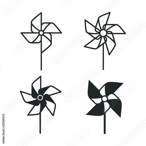 Valokuva pinwheel Windmill toytemplate color editable