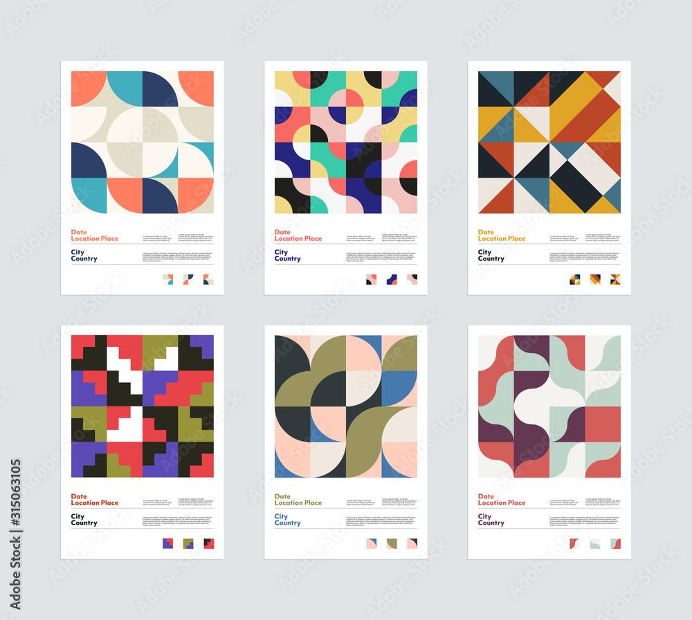 Fototapeta Geometrical Vector Poster Design Template Set