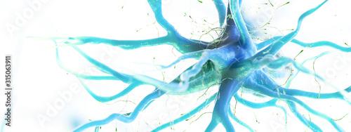 Papel de parede 3d rendered illustration of a human nerve cell
