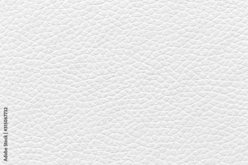 Fototapeta White leather texture used as background