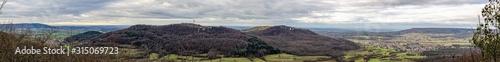 Panorama mit Blick auf Walberla / Ehrenbürg Fototapet