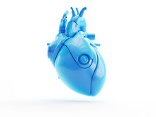 3d Rendered Object Illustration Of An Abstract Blue Heart