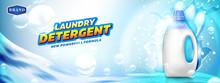 Laundry Detergent Banner. Blan...