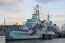 HMS Belfast Museum Ship In Lon...