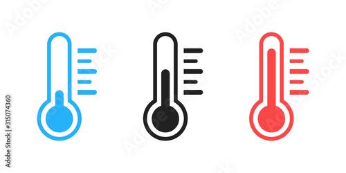 Fotografie, Obraz Thermometer isolated vector icon