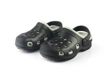 Kids Crocs Isolated On White B...