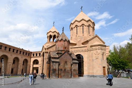 Yerevan, Armenia-April, 29 2019: Church of St Wallpaper Mural