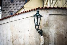 Designed Street Lamp In Prague