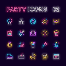 Party Neon Icons
