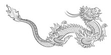 Hand Drawn Line Art Chinese Dr...