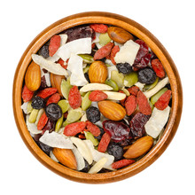 Superfood Snacking Mix In Wood...