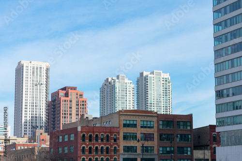 River North Chicago Skyline with Residential Skyscrapers