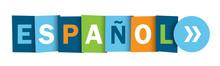 ESPANOL (SPANISH) Vector Typography Web Button