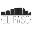 El Paso Texas. City Skyline. Silhouette City. Design Vector. Famous Monuments.