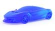 Leinwandbild Motiv 3d rendered abstract illustration of a sports car