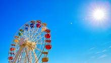 Ferris Wheel On Mount Tibidabo...