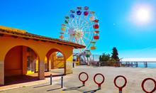 Entrance In Amusement Park At ...