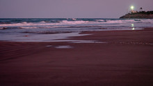 Wild Beach With Sandy Dunes At...