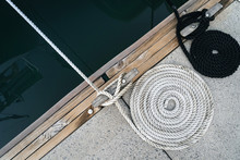 Mooring Rope Twisted Into A Sp...