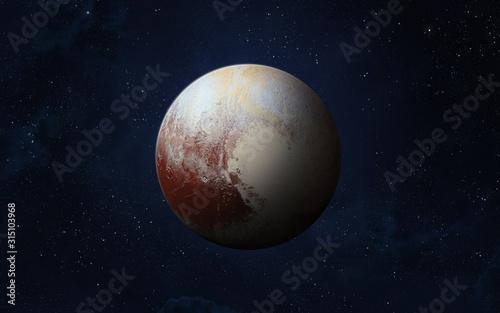 Dwarf planet Pluto. Canvas