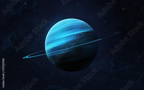 Planet Uranus. Fotobehang