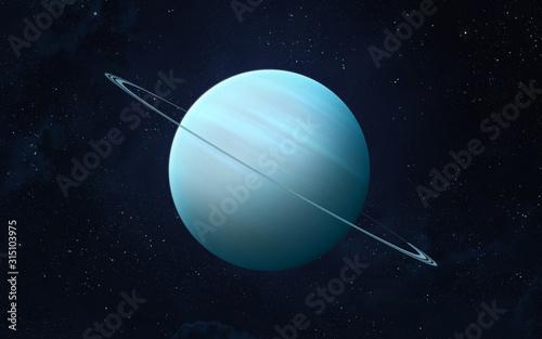 Planet Uranus. Canvas Print