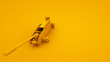 Floor Jack Isolated On Yellow ...