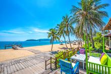 Beautiful Scenery Of Nha Trang, A Tropical Coastal Vacation Paradise In Vietnam, Southeast Asia.