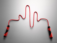 Red Jump Rope Forming Pulse Tr...