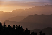 Silhouette Tranquil Mountain R...
