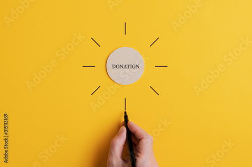 Conceptual image of charity and donation Wallpaper Mural