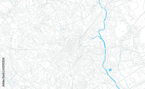 Fototapeta Montpellier, France bright vector map