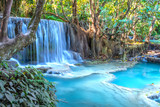 Kuang si waterfall, beautiful turquoise waterfalll in Luang Prabang, Lao.  Listed as UNESCO heritage site