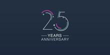 25 Years Anniversary Vector Ic...