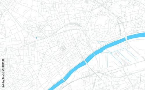 Argenteuil, France bright vector map Wallpaper Mural